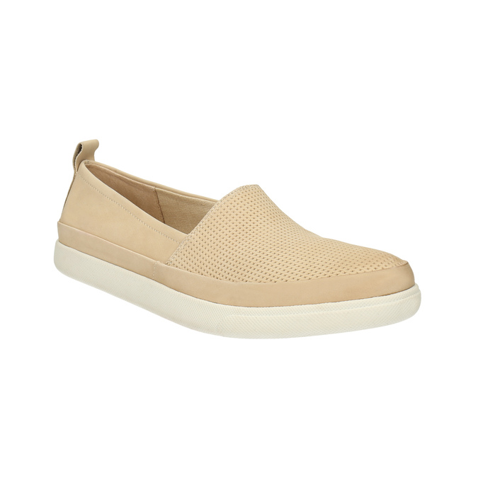 Light slip-ons for ladies bata, beige , 516-8601 - 13