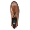Leather shoes with contrasting quilting for gentlemen bata, brown , 824-4838 - 19