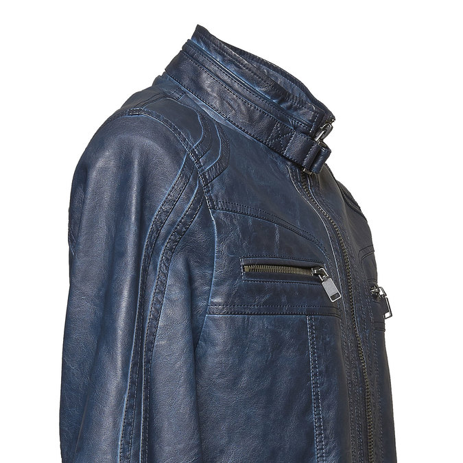 Men's artificial leather jacket bata, blue , 971-9194 - 16