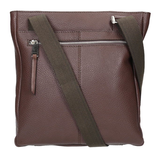 Men's leather crossbody bag bata, brown , 964-4230 - 26