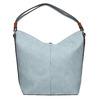 Blue Hobo-style handbag bata, blue , 961-9705 - 19
