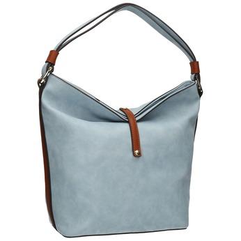 Blue Hobo-style handbag, blue , 961-9705 - 13