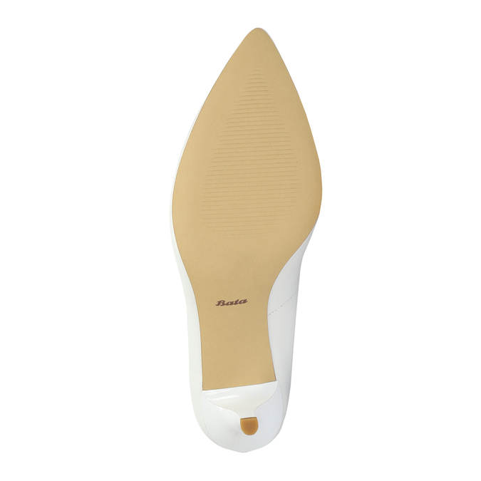 Ladies´ leather pumps bata, white , 624-1632 - 26