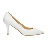 Ladies´ leather pumps bata, white , 624-1632 - 15