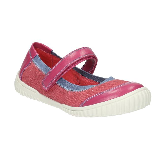 Children´s ballerinas with an instep strap mini-b, pink , 329-5605 - 13