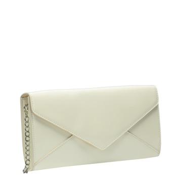 Patent leather envelope handbag with chain bata, beige , 961-1685 - 13