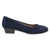 Leather pumps width H bata, blue , 623-9601 - 15