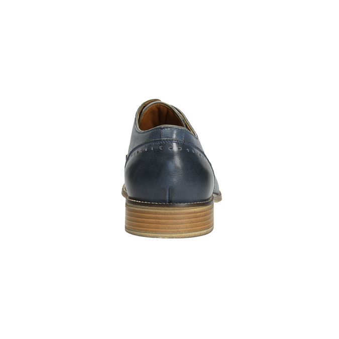 Blue leather shoes bata, blue , 826-9801 - 17
