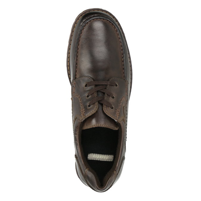 Casual Leather Lace-Ups bata, brown , 826-4640 - 15