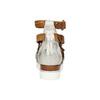 Leather flatform sandals bata, brown , 666-1605 - 17