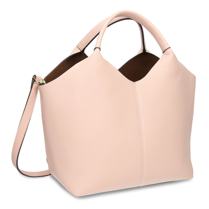 Pink handbag bata, pink , 961-5704 - 13