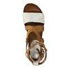Leather flatform sandals bata, brown , 666-1605 - 19