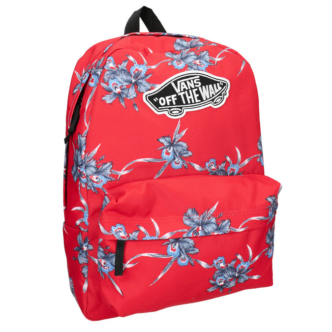 Red patterned backpack vans, red , 969-5093 - 13