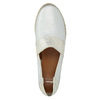 Ladies' leather slip-ons bata, white , 516-1604 - 19