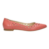Pointed leather ballet pumps bata, pink , 524-0604 - 15