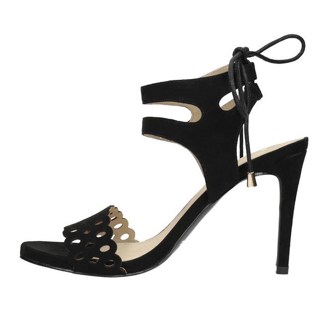 Black stiletto sandals bata, black , 769-6603 - 26