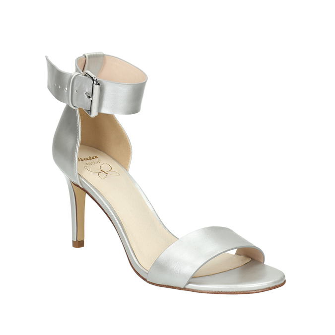 Silver heeled sandals insolia, silver , 761-1608 - 13