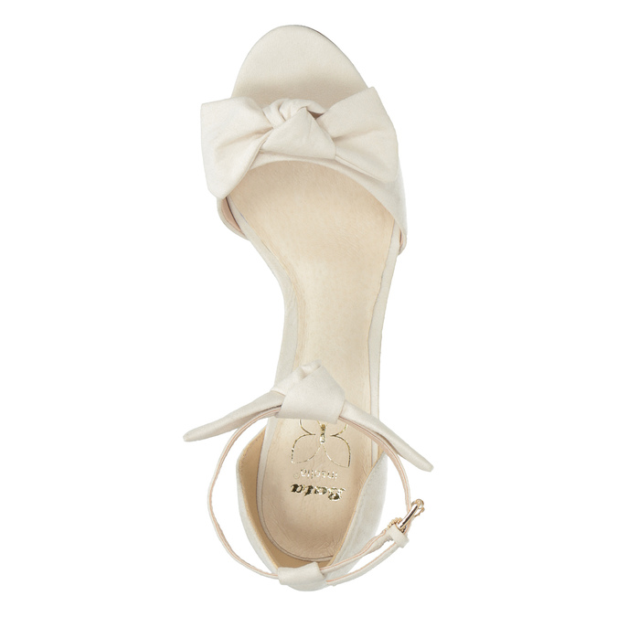 Ladies' sandals with bow insolia, white , 769-1614 - 19