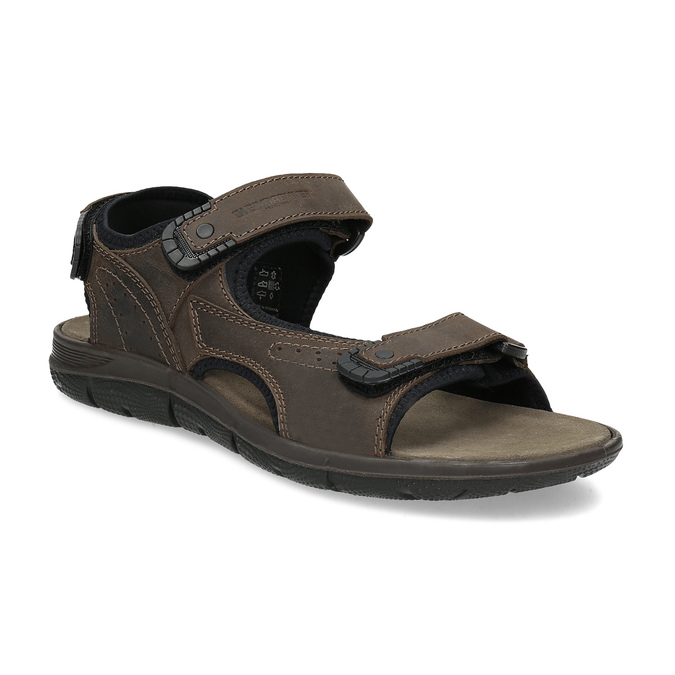 Leather sandals with Velcro fasteners, 866-4631 - 13