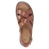 Men's brown leather sandals bata, brown , 866-3602 - 17