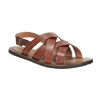 Men's brown leather sandals bata, brown , 866-3602 - 13