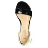 Patent leather sandals bata, black , 568-6606 - 19