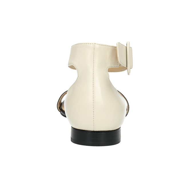 Patent leather sandals bata, black , 568-6606 - 17