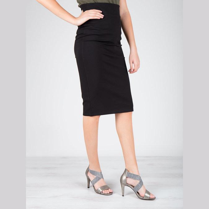 Ladies' heeled sandals bata, gray , 761-2614 - 18