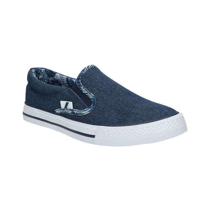 Ladies' denim slip-ons north-star, blue , 589-9440 - 13