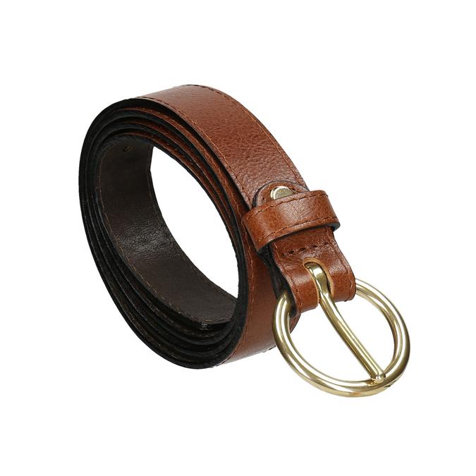 Ladies' brown leather belt bata, brown , 954-4197 - 13