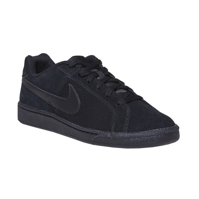 Men's leather sneakers nike, black , 803-6302 - 13