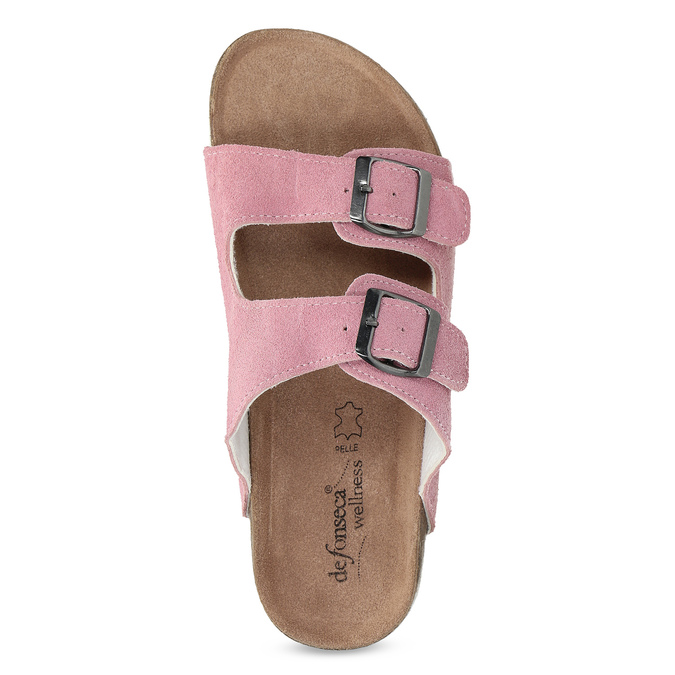 Ladies' leather sandals, pink , 573-5621 - 17