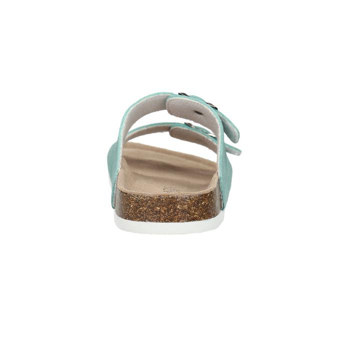Blue leather sandals de-fonseca, turquoise, 573-7621 - 17