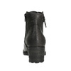 Ladies' leather ankle boots bata, gray , 696-2627 - 17