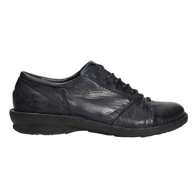 Ladies' leather oxford shoes bata, blue , 526-9640 - 15