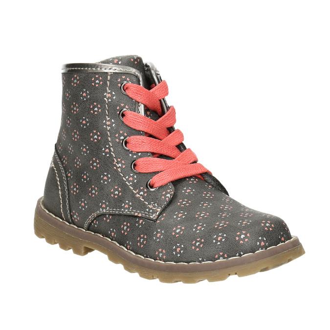 Children's ankle shoes bubblegummer, gray , 221-2606 - 13