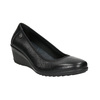 Leather pumps on a wedge heel, black , 626-4643 - 13