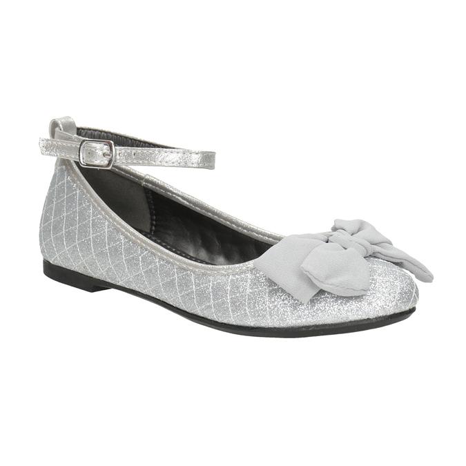 Girls' Silver Sandals mini-b, silver , 329-1286 - 13
