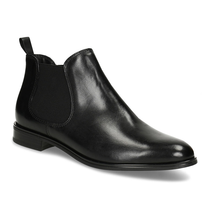 Black leather Chelsea style boots, black , 594-6635 - 13