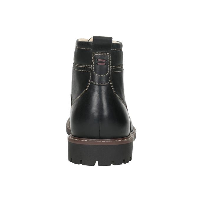 Leather winter shoes bata, black , 894-6642 - 16