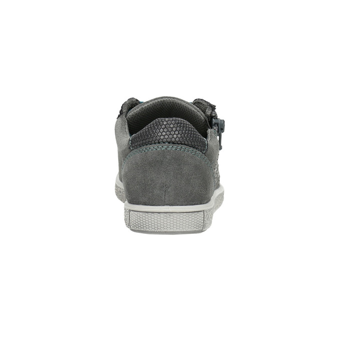Children's studded leather sneakers mini-b, gray , 323-2173 - 17