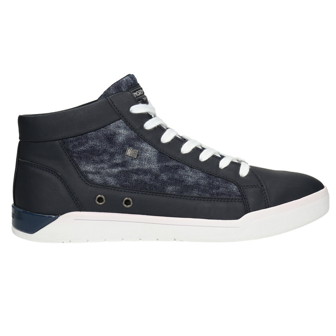 Hi-tops with denim details north-star, blue , 841-9609 - 15