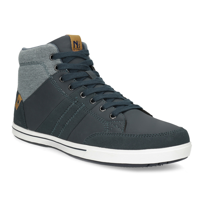 Blue high-top sneakers north-star, blue , 841-9608 - 13