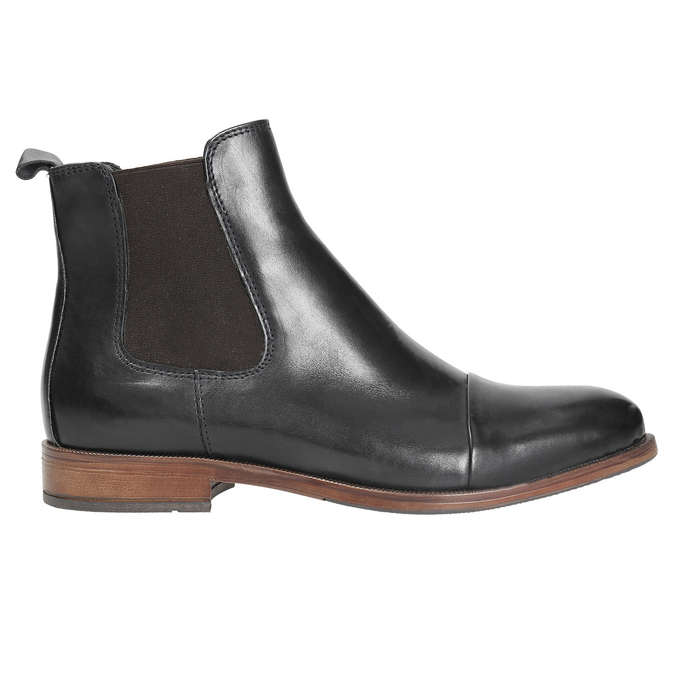 Ladies' leather Chelsea boots bata, black , 594-9636 - 26
