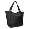 Black studded handbag bata, black , 961-6787 - 13
