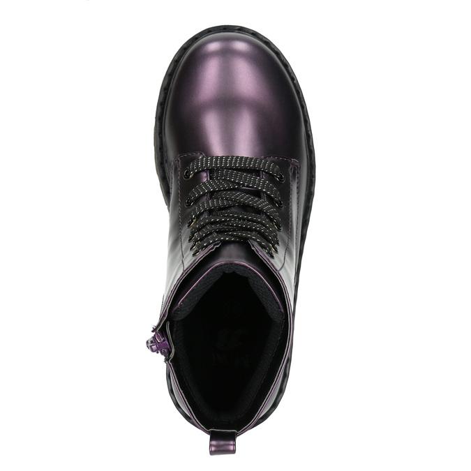 Metallic Children's Boots mini-b, violet , 321-9612 - 19