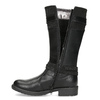 Black Girls' Leather High Boots mini-b, black , 391-6655 - 17