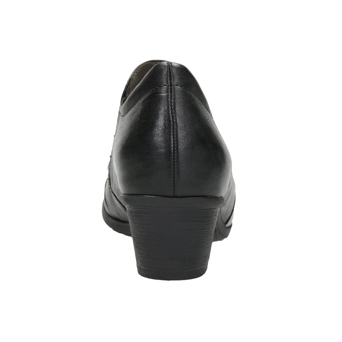 Leather Ankle Boots with Heel gabor, black , 614-6124 - 16