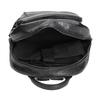 Backpack with zips bata, black , 961-6516 - 15