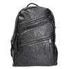 Backpack with zips bata, black , 961-6516 - 26
